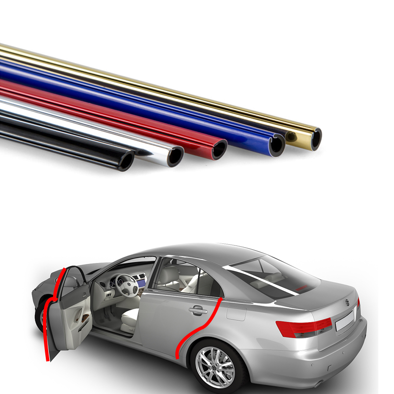 กาวกาว Chrome PVC Car Door Edge Protector Guard