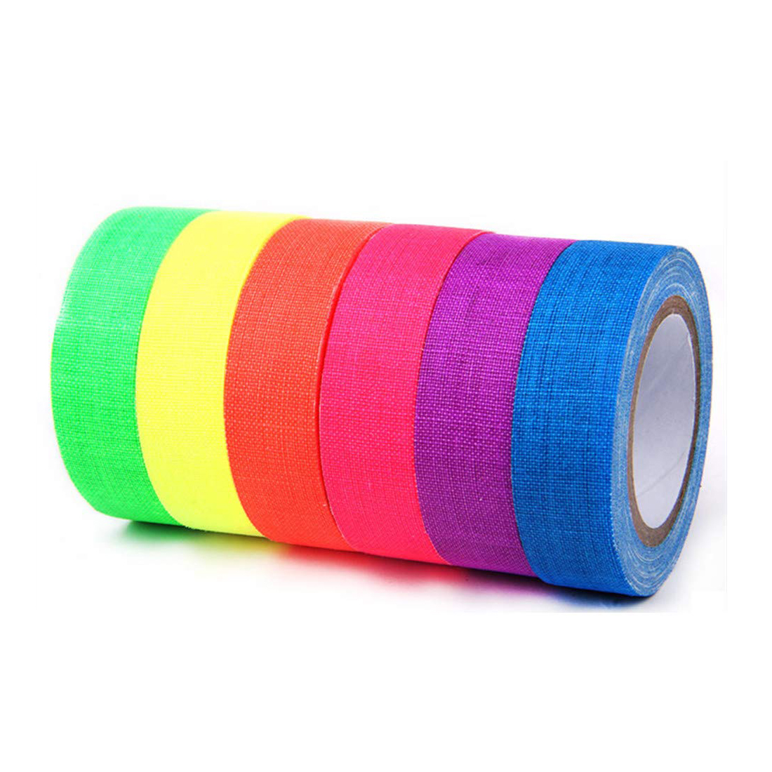 EONBON Free Samples UV Matte Reactive Neon Fluorescent Cloth Duct Tape