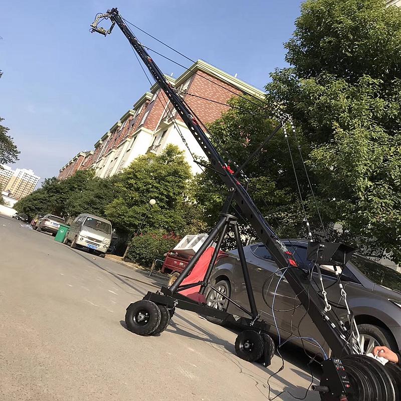 Filming Shooting Equipment 12m 3-Axis Motorized Head Professional Jimmy Jib Video Camera Crane