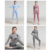 Private Label Womens 2 Piece Outfit seamless Yoga Set Workout Apparel Gym Workout Clothing Gym Crop T Shirt Sport top and pants