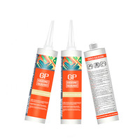 Gold silicon Fast Drying General Purpose Waterproof mildew-proof silicone adhesive glue for Bathroom