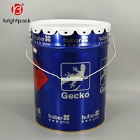 20L metal bucket paint tin pail with lid UN approved