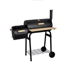 SEJR Zwarte Houtskool Grill Barbecue <span class=keywords><strong>BBQ</strong></span> Grill Offset <span class=keywords><strong>Roker</strong></span> met Side Tafel 113x102x62 cm