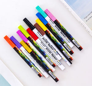 Amazon hot selling extra 0.7mm fine point acrylic paint pens set for DIY
