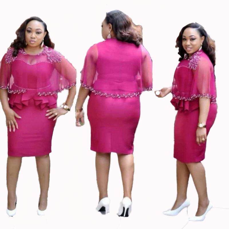 90428-MX16 Elegant Summer Beaded Plus Size Dress For Women фото