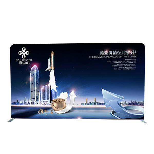 China Pop-Up-Hintergrund Stretch Curved Banner Stand Messeauftritte