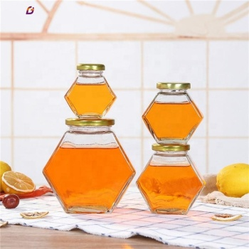 100ml 180ml 280ml 380ml hexagon honey glass jar