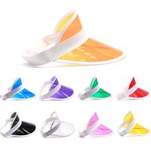 Plastic Transparent UV Protection Sun Visor Cap with Multiple Color Selection