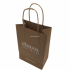 wine bottle brown Kraft paper bag with twisted paper handle wholesales china
