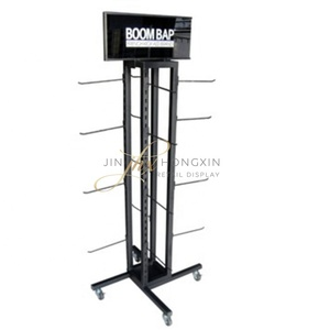 Metal Wire Display Stand Rack With Hook For Waterproof Bag Mobile Accessories,mobile phone shop decoration