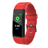 IP68 Big colorful watch bT 4.0 blood pressure heart rate fitness sport 115 Plus smart bracelet dropship watch smart bracelet