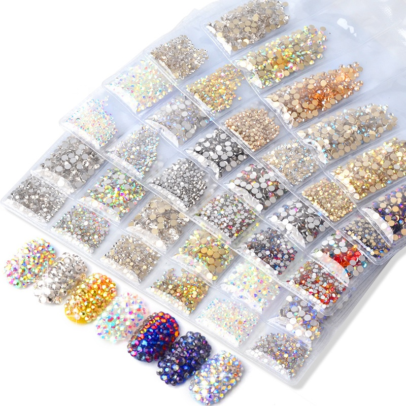 Newest <strong>Nail</strong> <strong>Art</strong> Diamond <strong>Glass</strong> 3D Flatback <strong>Nail</strong> <strong>Art</strong> Crystal Rhinestones for DIY Tips Decoration