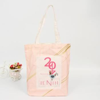 Fashion style canvas tote bag with custom design,eco friendly cheap shopping linen cotton bag for women
