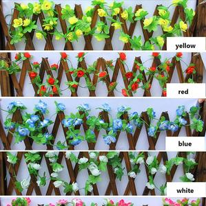 Promotional Rose Garland Artificial Vine with Green Leaves