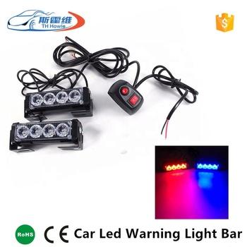 Car Led Emergency Strobe Light 2x4 Offroad Motorcycle Patrol Caution Fog  Light Flash Auto Warning Lamp Bar Police Flashing Light - Buy Car Warning