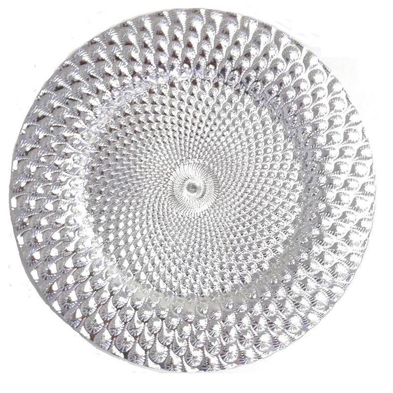 Wholesale Glass Charger Plate 13 inch Wedding Charger Plates