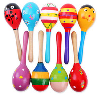 Promotion baby wooden mini maracas customize kids wooden mini maracas