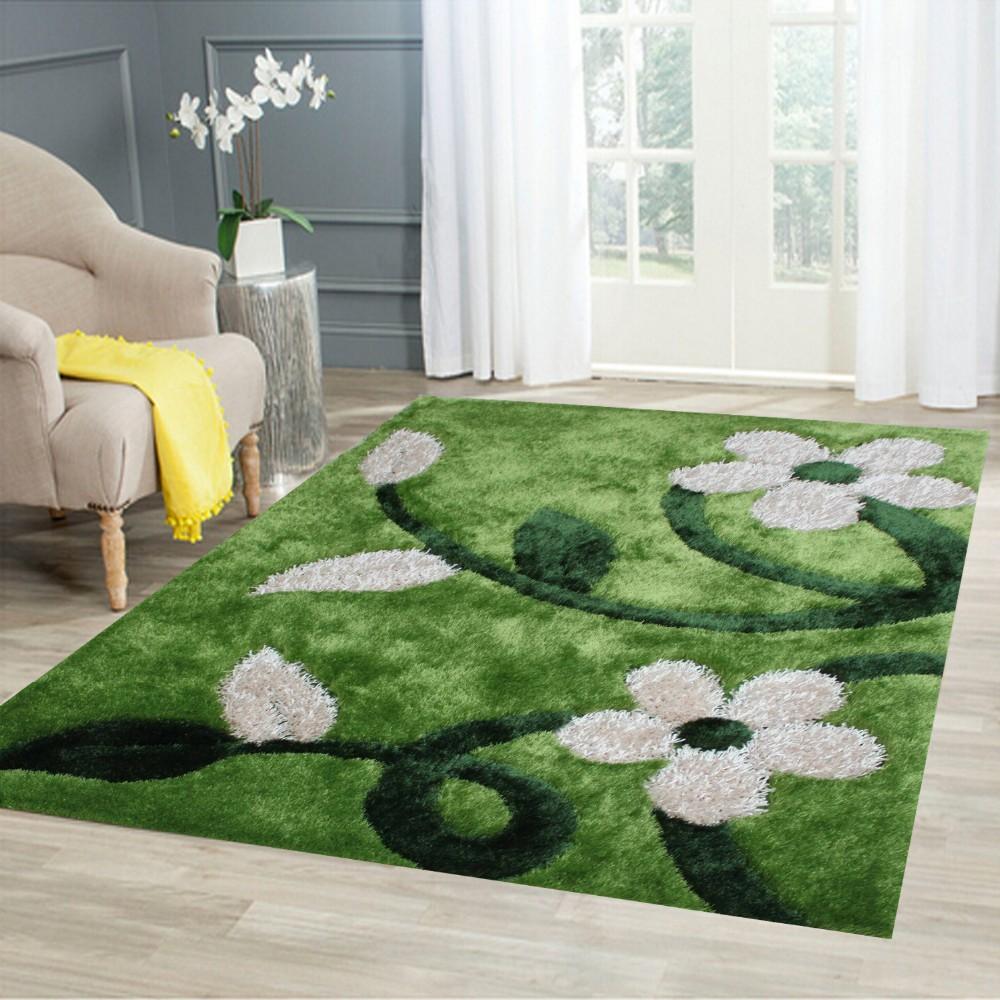 Mewarnai 3d lantai dekorasi shaggy karpet karpet ruang tamu pemasok