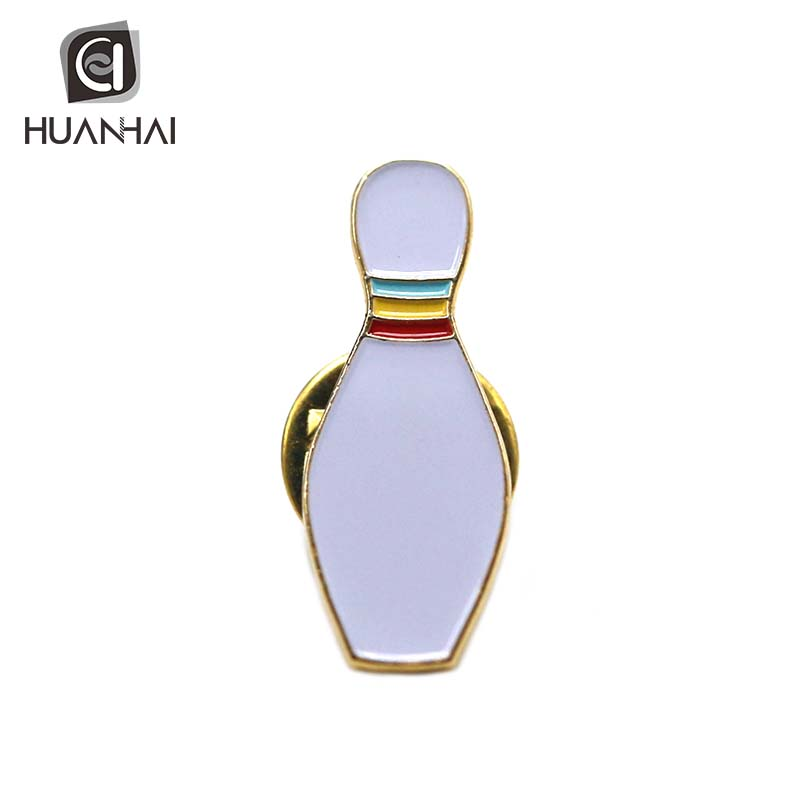 Huanhai factory custom metalen logo emaille bowling revers pin