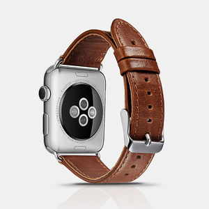 Wholesale Vegan Men Watchstrap Genuine Wrist 38mm Belt Watchband 42mm Leather Strap for Iwatch for Apple Watch Band for Iphone