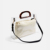 Stylish fancy 2 set pvc lady hand shoulder bag 2019 new portable tortoiseshell acrylic handle beach tote bag with cotton pouch