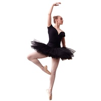 JW adult professional classical dancewear stage skirt black girls ballet tutu