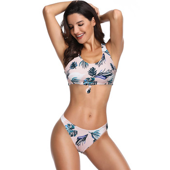 New Arrivals Mom And Daughter Flower Printing Swimwear Family Matching Adult Kids 2Pcs Bathing Swimwear