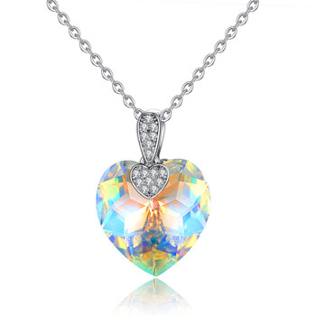 Fashion Two colors optional BIG HEART crystal pendant necklace Heart-shaped evening dress accessories necklace jewelry
