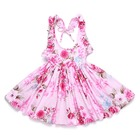 Plus Size White Party Child Kid Clothes for Girls Girl Other Blue Flower Summer Beach Casual Dress