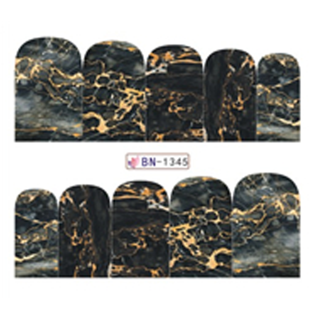 Marble texture pattern design water decal transfer nail sticker art for girls фото
