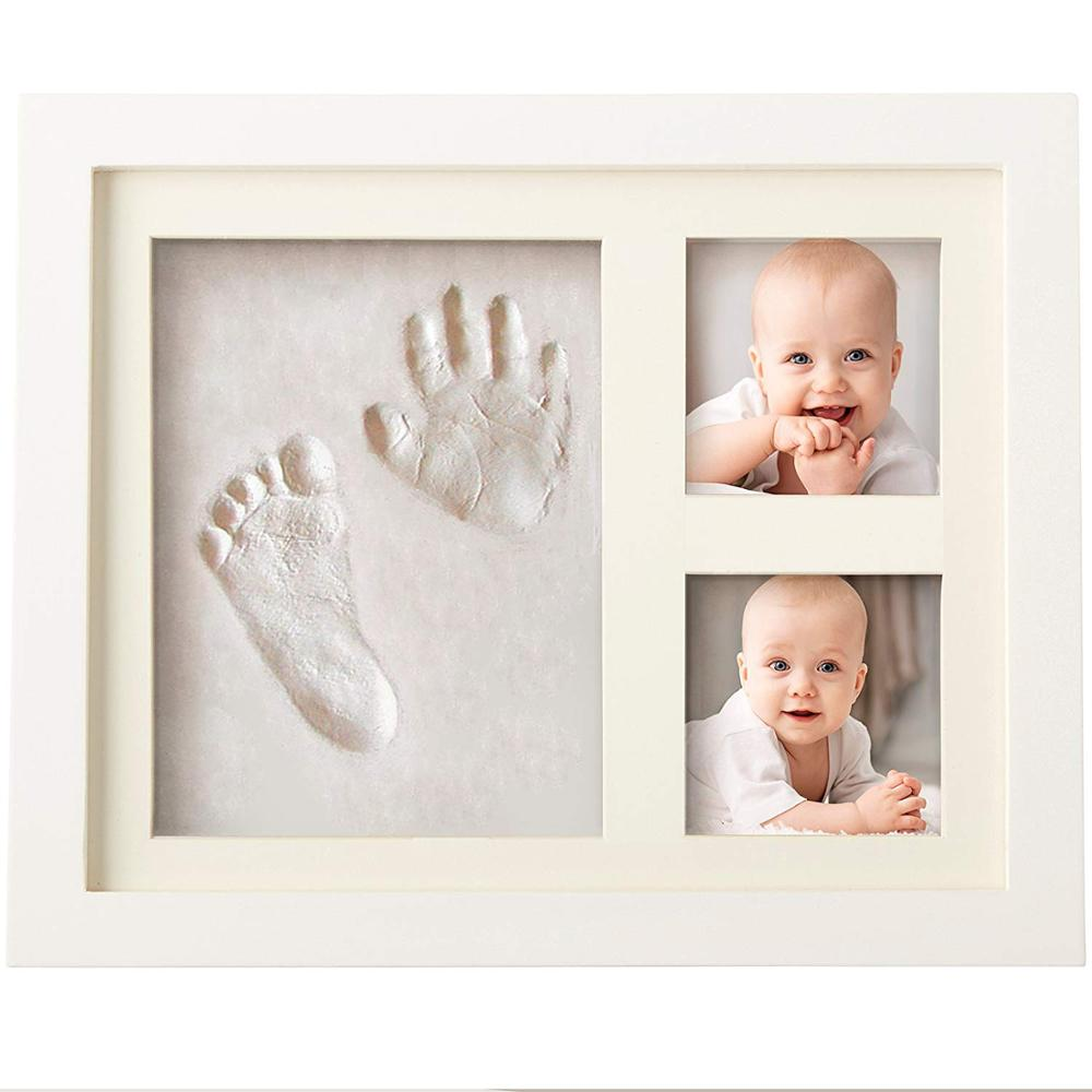 Handprint Kit & Footprint Baby Photo Frame for Newborn Girls and Boys