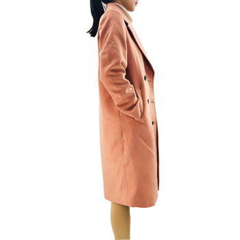 Military Style Women Blended Double Face Wool Coat
