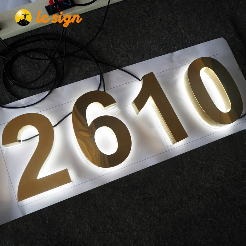 3D Lighting Acrylic Mini Cheap LED Channel Letter Signs / Bending Machine Making Acrylic face Lighting frontlit  Letters sign