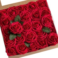 25cm Valentine's Day Women's Gift 24K Gold Plated Rose Flower Decoration Artificial Flowers For Mother's Day