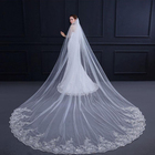 Wholesale 100% Polyester Long Wedding Bride Veil