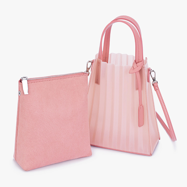 2020fashion zipper vinyl shoulder bags wholesale small transparent messenger bag PVC women clear handbags