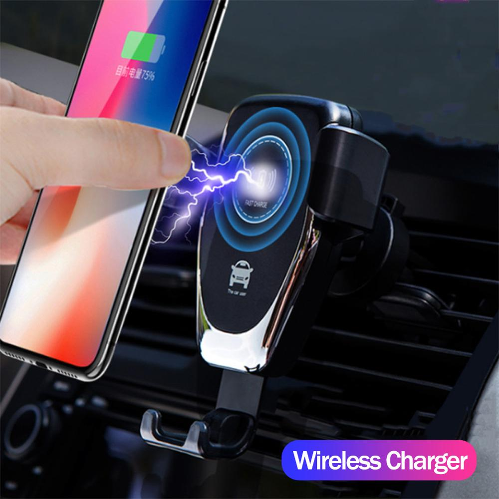 FAST 10W Wireless <strong>Car</strong> Charger Air Vent Mount <strong>Phone</strong> <strong>Holder</strong> For iPhone XS Max Samsung S9 Xiaomi MIX 2S Huawei Mate 20 Pro 20 RS