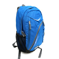 New Products Blue Nylon Backpack Teenager School Bag For Travel And Sport