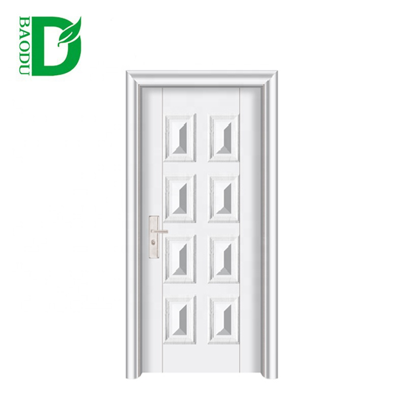 new style 8 panel american steel <strong>doors</strong> white internal <strong>door</strong> from china