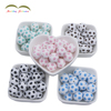 New Arrival silicone teething beads for baby/silicone football beads