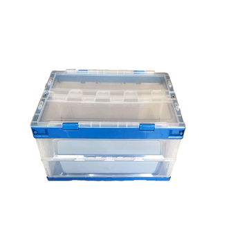 100% vrigin material  heavy duty collapsible plastic crate