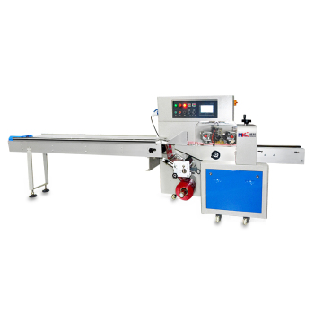 Automatic bread and chain pastry food pillow packing machine