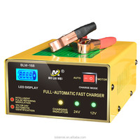 15a Intelligent external 12v/24v pulse repair portable automatic battery charger