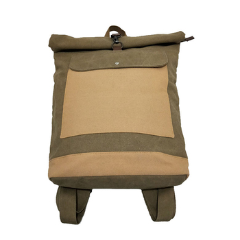 School bag for university students Hot sale custom teenagers waxed  Vintage Plain canvas backpack high quality sports bag