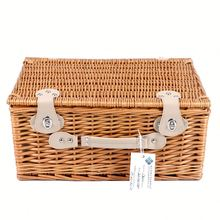 Nach Bunte Wicker Folding Isolierte Kinder Picknick Korb