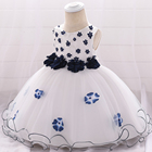 High Quality Short Sleeve 4 Years Guangzhou Baby Garments Party Kids Girls Evening Dresses L1895XZ