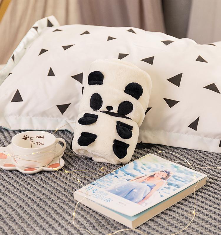 Hot sale cartoon panda animals baby swaddle wrap blanket super soft flannel blanket, Customized