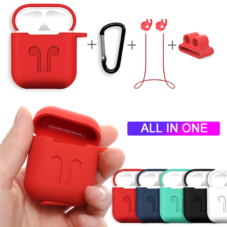Amazon Hot Shockproof Soft Silicone Earphone Protective Cover Case For Apple AirPods фото