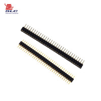 [SLC]2.54mm pitch straight male PCB connector H2.5,factory produce pin header