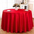 Luxury polyester fabric cover round square hotel table cloth for wedding